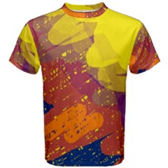 Colorful abstract pattern Men s Cotton Tee
