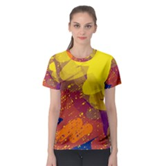 Colorful abstract pattern Women s Sport Mesh Tee