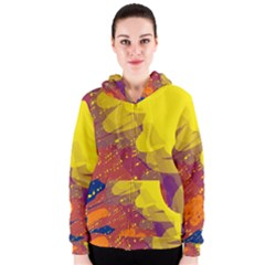 Colorful abstract pattern Women s Zipper Hoodie