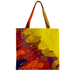 Colorful abstract pattern Zipper Grocery Tote Bag