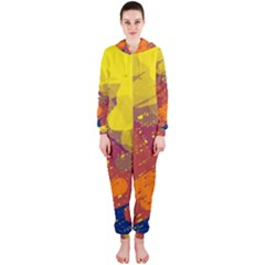 Colorful abstract pattern Hooded Jumpsuit (Ladies)