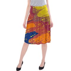 Colorful Abstract Pattern Midi Beach Skirt
