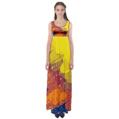 Colorful abstract pattern Empire Waist Maxi Dress