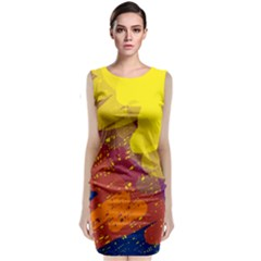 Colorful Abstract Pattern Classic Sleeveless Midi Dress