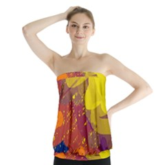 Colorful abstract pattern Strapless Top