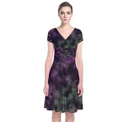 Organic                                                        Short Sleeve Front Wrap Dress