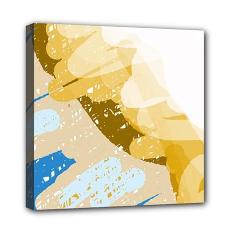 Artistic pastel pattern Mini Canvas 8  x 8