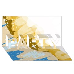 Artistic pastel pattern PARTY 3D Greeting Card (8x4)