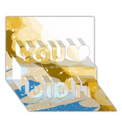 Artistic pastel pattern You Did It 3D Greeting Card (7x5)
