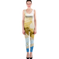 Artistic pastel pattern OnePiece Catsuit