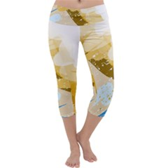 Artistic pastel pattern Capri Yoga Leggings