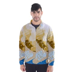 Artistic pastel pattern Wind Breaker (Men)