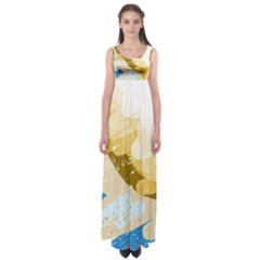 Artistic pastel pattern Empire Waist Maxi Dress