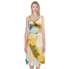 Artistic pastel pattern Midi Sleeveless Dress