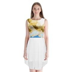 Artistic pastel pattern Sleeveless Chiffon Dress