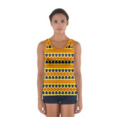 Hearts and rhombus pattern                                                                                          Women s Sport Tank Top