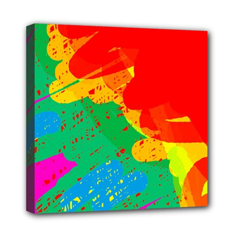 Colorful abstract design Mini Canvas 8  x 8
