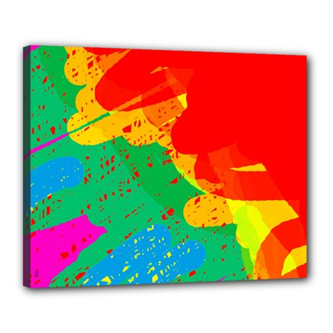 Colorful abstract design Canvas 20  x 16