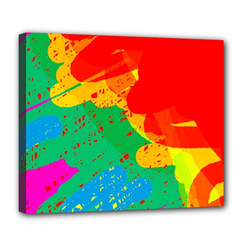 Colorful abstract design Deluxe Canvas 24  x 20