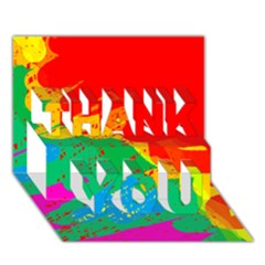 Colorful abstract design THANK YOU 3D Greeting Card (7x5)