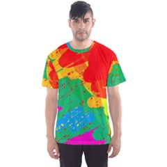Colorful abstract design Men s Sport Mesh Tee