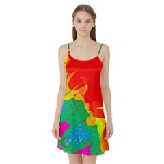 Colorful abstract design Satin Night Slip