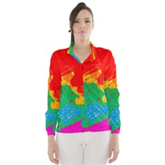 Colorful abstract design Wind Breaker (Women)