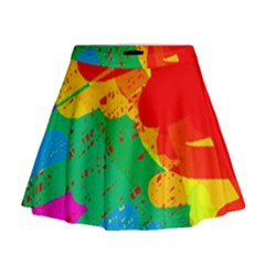 Colorful abstract design Mini Flare Skirt