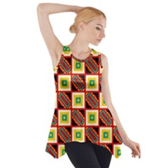 Squares And Rectangles Pattern                                                                                          Side Drop Tank Tunic