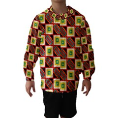 Squares and rectangles pattern                                                                                          Hooded Wind Breaker (Kids)