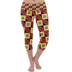 Squares and rectangles pattern              Capri Yoga Leggings
