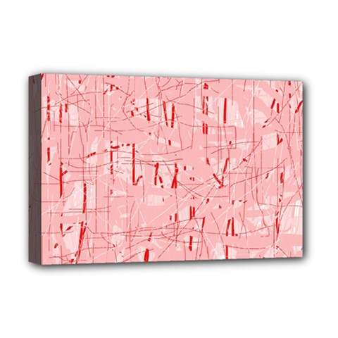 Elegant pink pattern Deluxe Canvas 18  x 12