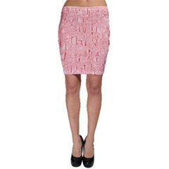 Elegant pink pattern Bodycon Skirt