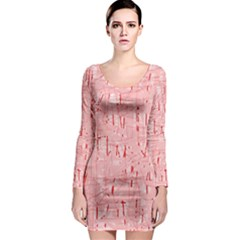 Elegant pink pattern Long Sleeve Bodycon Dress