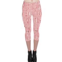 Elegant pink pattern Capri Leggings