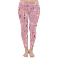 Elegant pink pattern Winter Leggings