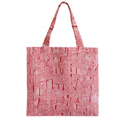 Elegant pink pattern Zipper Grocery Tote Bag