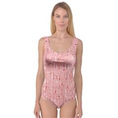 Elegant pink pattern Princess Tank Leotard