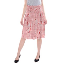 Elegant pink pattern Midi Beach Skirt