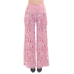 Elegant Pink Pattern Pants
