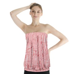 Elegant pink pattern Strapless Top