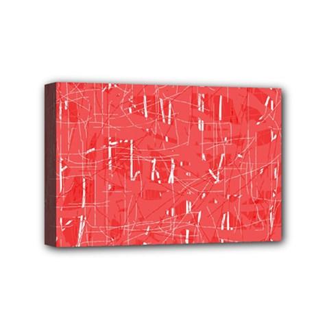 Red pattern Mini Canvas 6  x 4