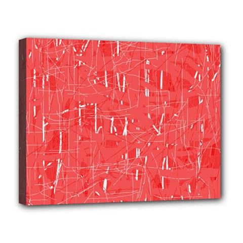 Red pattern Canvas 14  x 11