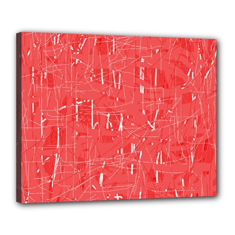 Red pattern Canvas 20  x 16