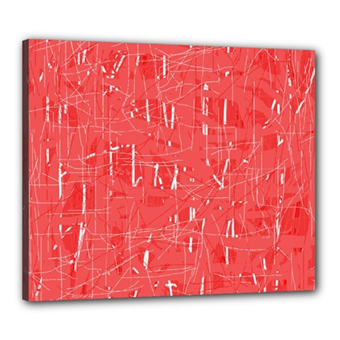 Red pattern Canvas 24  x 20