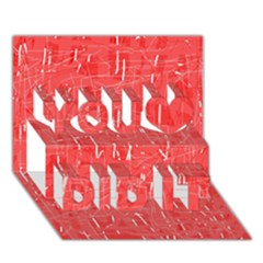 Red Pattern You Did It 3d Greeting Card (7x5)