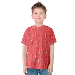 Red pattern Kid s Cotton Tee