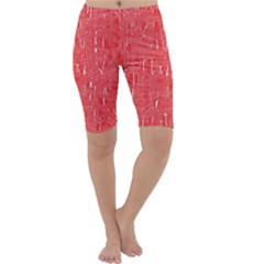 Red pattern Cropped Leggings
