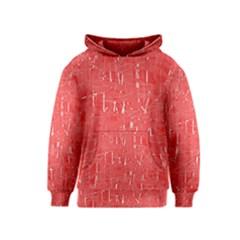 Red pattern Kids  Pullover Hoodie