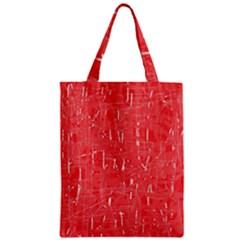 Red pattern Zipper Classic Tote Bag